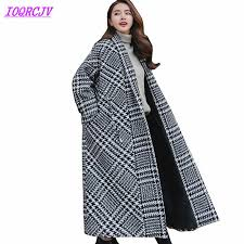 New Plaid <b>Woolen Jacket</b> Women Autumn <b>Winter Thick</b> Quilted ...