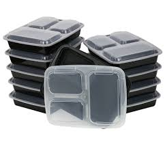 Amazon Com Chefland 3 Compartment Microwave Safe Food Container