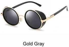 2019 <b>Retro</b> Round <b>Sunglasses</b> Women <b>Men Vintage</b> Gold Black ...