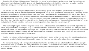 adoption essay  wwwgxartorg even a good movie like stuart little can represent perplexing essay on even a good movie