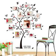 creative chic family photo frame tree butterfly flower heart murales wall sticker living room decor room chic family room decorating