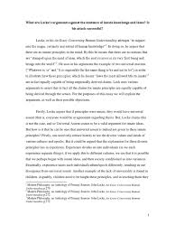 the existence of god essay philosophy of mind locke s arguments against innate ideas and