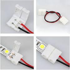 <b>5</b>-<b>100PCS</b> 10mm 2Pin PCB <b>Connectors</b> For 5050/5630 Single Color ...