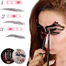<b>Eyebrow Stencil</b> Fast Makeup Kit <b>Adjustable</b> 3 <b>Shaping</b> Beauty ...