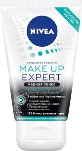 <b>Nivea</b> 3в1 <b>Make</b> Up Expert Черная очищающая пенка для лица ...