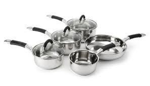 Russell Hobbs Fusion <b>5 Piece Stainless Steel</b> Saucepan Milk &amp