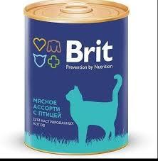 <b>Консервы Brit Premium</b> для кастрированных котов 340 г - купить в ...