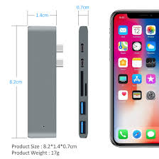 2019 <b>Hannord 7 In 1</b> Dual Usb Type C To 4K@30HZ Thunderbolt 3 ...
