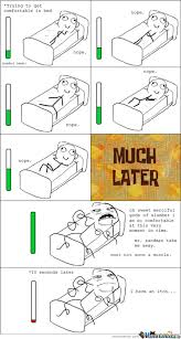 Comfortable in bed funny meme. The last person put 18000 hashtags ... via Relatably.com