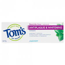Buy <b>Natural Antiplaque & Whitening</b> Toothpaste 113 g by Tom's Of ...