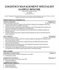 logistics management specialist resume      logistics management specialist resume
