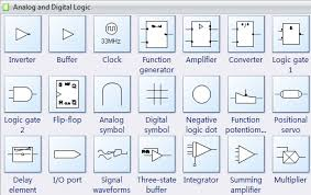 circuits and logic diagram softwarecircuit symbols   analog and digital logic
