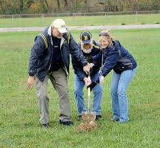putnam review groundbreaking held for new buffalo high school buffalo high school football coach mike sawyer darrell moore and principal tawny stilianadouakis break ground on the new bhs football field on oct 31