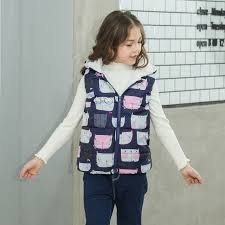 <b>2019</b> Autumn Winter New Boys <b>Girls</b> Sleeveless Hooded Wool Vest ...