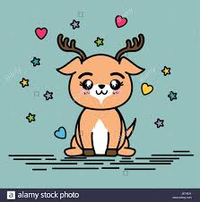 <b>Cute</b> and <b>lovely deer animal cartoon</b> Stock Vector Art & Illustration ...