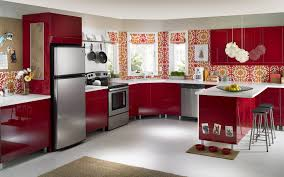 Kitchen Cabinets Springfield Mo Red Cabinets Kitchen Traditional Kitchen With Dark Red Cabinets