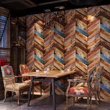 Imitation <b>wood grain</b> wallpaper <b>3D</b> stereoscopic old American style ...