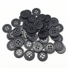 <b>100pcs</b> 15mm 18mm Black Resin <b>Round</b> Sewing Buttons Sewing <b>4</b> ...