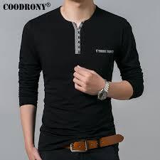 <b>COODRONY</b> Cotton <b>T Shirt Men</b> 2019 Spring Autumn New Long ...
