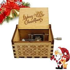 Buy <b>Music</b> Box Merry <b>Christmas</b> Tone Wooden Hand <b>Shake Music</b> ...