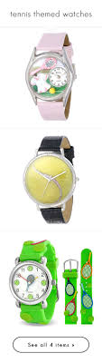 best images about tennis tennis bag tennis tennis themed watches by tennisidentity on polyvore featuring jewelry watches hand crafted jewelry