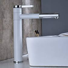 <b>Fapully Bathroom Basin</b> Faucet Tall Chrome White Rotating 360 ...