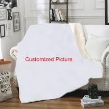 <b>SOFTBATFY</b> Customized Kids Adult Fleece Throw Blanket Sofa ...