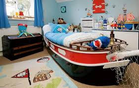 place boat shaped bed for pirate themed bedroom with interesting boy furniture on brown carpet flooring boy furniture bedroom
