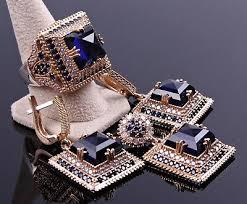 Turkish Handmade <b>Jewelry 925</b> Sterling Silver Sapphire Stone ...
