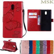 luxury butterfly <b>wallet</b> tpu <b>pu leather case</b> for nokia 3 in0b74f2a ...