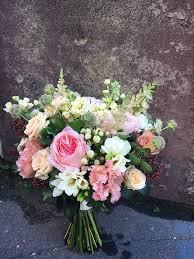 Wedding <b>bouquet</b> with Mayra's bridal pink David Austin <b>roses</b>, spray ...