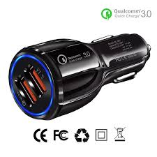 <b>Quick Charge 3.0 Dual</b> USB Car Chargers Adapter LED Display ...