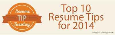 resume tip tuesday  top  resume tips for   careerblissresume tip tuesday