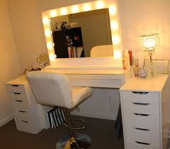 mirror led lights for wooden make up table in white finish with apron and 10 drawers charming makeup table mirror