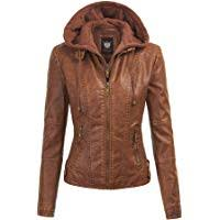 Amazon Best Sellers: Best <b>Women's</b> Leather & <b>Faux Leather</b> Jackets ...