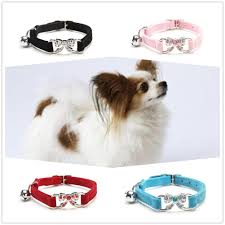 <b>Cute Crystal</b> Elastic <b>Dog</b> Collar Velvet With Bell <b>Pet</b> Necklacce-buy ...