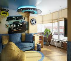 themed kids room designs cool yellow:  blue yellow boys room