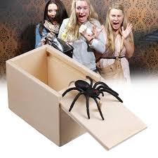 <b>Wooden</b> Prank Spider Scare Box <b>1 Pcs</b> Spoof Entertainment Joke ...