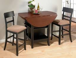 room brown black wooden furniture style small dining room black wooden dining table with brown counter top and shelf