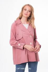 VLU901914 <b>Плащ</b> женский (Цвет: Розовый; Размер: 44)