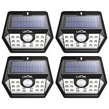LITOM Solar Lights Outdoor, Wireless Motion Sensor Lights(White ...