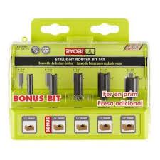 RYOBI Straight Router Bit Set (<b>5</b>-<b>Piece</b>)-A25RS51 - The Home Depot