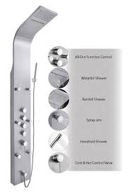 ideas shower systems pinterest: akdyar stainless steel rain waterfall shower panel massage jets amp rain style hand shower system