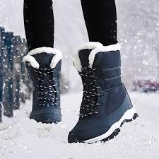 Женские ботинки теплые зимние ботинки на <b>меху</b> модная ...