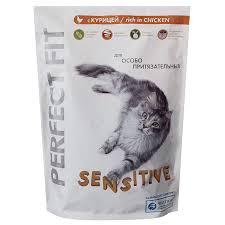 Сухой <b>корм</b> для кошек Perfect fit курица, 750 г | Магнит Косметик