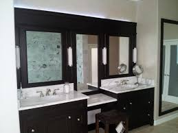 bathroom black wooden bathroom cabinet with sink on white marble granite counter top plus mirror bathroom vanity lighting ideas combined