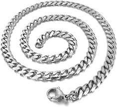 SANDRA <b>Mens Jewelry</b> 4.5 mm 18-40 Silver <b>Stainless Steel</b> Bead ...