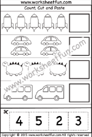 Cut and Paste Activity – Count, Cut and Paste – 1 Worksheet / FREE ...cut and paste activity