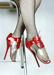<b>Extreme high heel 18cm high heel</b> red ballet shoes with transparent ...