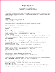 sample academic cv graduate student masters program masters program curriculum vitae